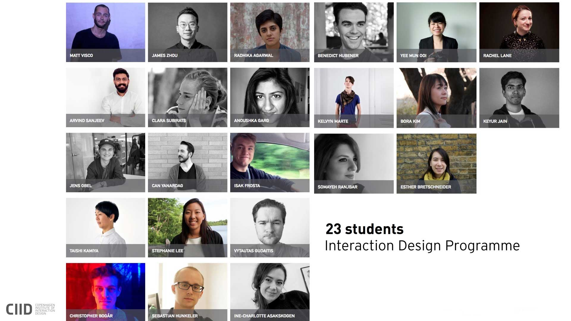 CIID students