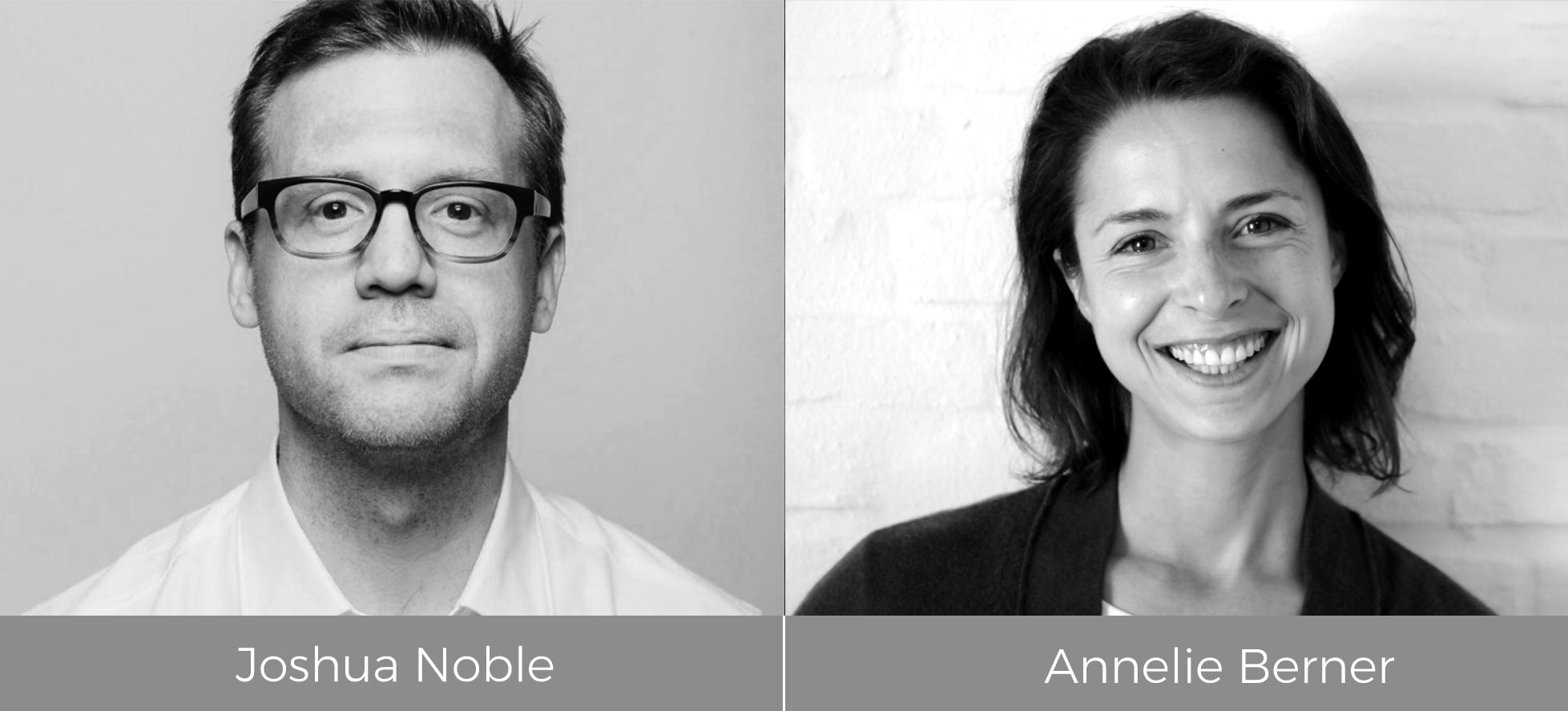 Joshua Noble and Annelie Berner