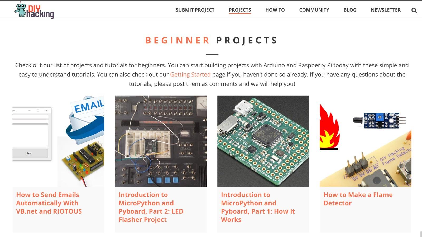Diyhackingcom An Online Educational Platform Diy Electronic Projects Simple Diyhacking